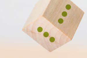 Holzwürfel mit Punkte Icon